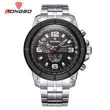 LONGBO Brand Military Army Men Watches Casual Stainless Steel Band Sports Watch Dynamic Male Leisure Fashion Reloj Hombre 80296(China)