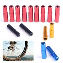 Buy 10PCS Aluminium Alloy MTB Mountain Road Bike Bicycle Brake Cable Hose Housing End Cap 5mm Diameter Cycling Parts 4 Colors for $1.24 in AliExpress store