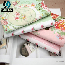 Manufacturers wholesale cotton camellia printing twill cloth handmade cloth clothing curtains bedding fabrics(China)