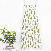 1 Pc Cotton Kitchen Apron Printed Unisex Cooking Aprons Bar&Dining Room Barbecue Restaurant Pocket Kitchen Accessories