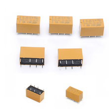 OOTDTY 5Pcs/set Yellow HK19F DC12V SHG 1A 125V AC 2A 30V DC Mini Power Relay 8Pin Coil DPDT(China)