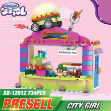 XINGBAO 12012 New 734Pcs City Girls Series The School Convenience Store Set Building Blocks Bricks Educational Kid Toys Gifts(China)