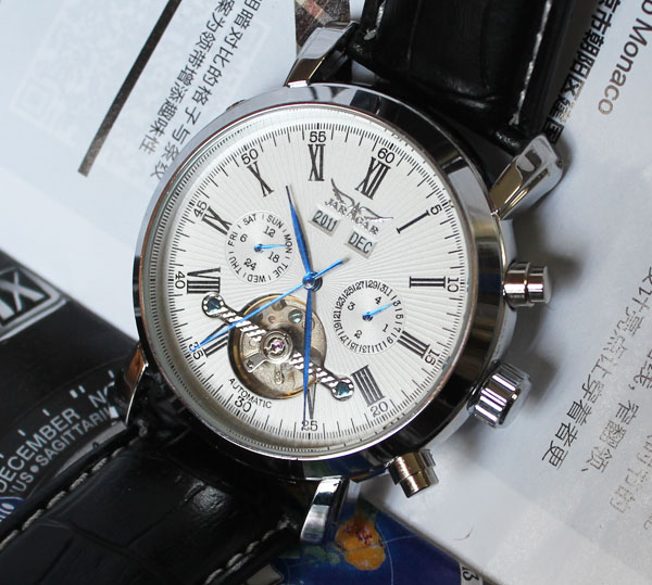 wholesale  New White Luxury Army Military Automaical Mens Mechanical Wrist Watch freeship<br>