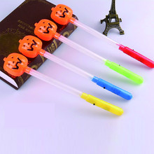 led party glow sticks Halloween Toy with LED Light Pumpkin Ghost Plastic led  Stick Halloween Costume Glow Party Supplies Decor 3041f9380168
