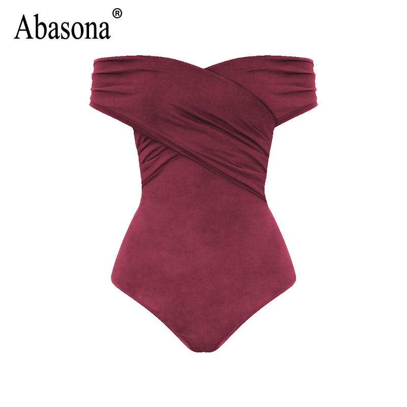 Abasona Bodysuit Women Body Suits For Women Sexy Romper Body Top Womens Sexy Off Shoulder Bodysuits Casual Beach Wear Playsuits 11