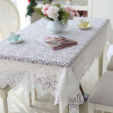 White Korean Lace tablecloth hollowed-out Table mat Piano Desk Bed Mats Cover home dinner Use Dec beauty wholesale FG612