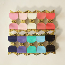 10color Glitter Felt Hair Clip for Girls PU Leather 12pcs/lot  Hotsale Princess Barrettes Gold Silver Hairpin Free Shipping