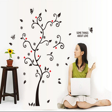 DIY Tree Wall Sticker For Living Room Removable PVC Cute ballon Lovely flower Decorativos Pegatinas De Pared Cheap Wallpaper