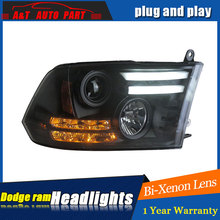 Auto part Style LED Head Lamp for Dodge Ram led headlights 2011 for Ram drl H7 hid  Bi-Xenon Lens angel eye low beam