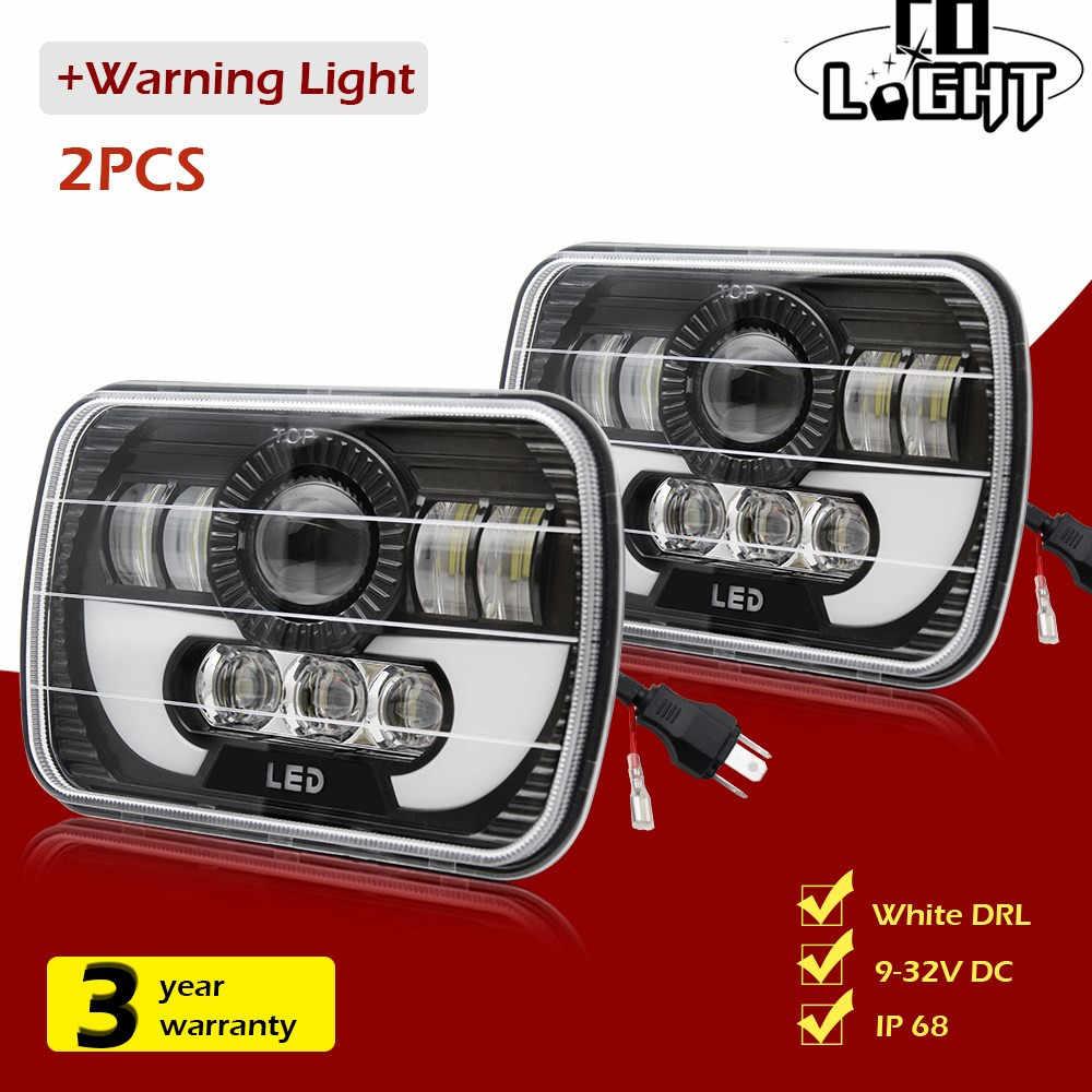 CO LIGHT 2pcs 2020 New 5x7 Inch LED Headlights 116W 7x6 Sealed Beam Angel Eye DRL Handlamp for Jeep Wrangler YJ XJ Cherokee H6054 H5054 H6052 H6053