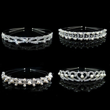 Buy 1Pcs Fashion Crystal Crown Headband Rhinestone Tiaras Hairbands Crystal Wedding Party Bridal Hair Band Hair Accessories Headwear for $3.79 in AliExpress store