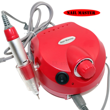 electric nail drill machine red shell electric manicure set nail sanding machine nail polish with 6pcs nail bits(China)