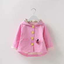 Baby Coat Time-limited 2016 Autumn Korean Version Of The Trend Of Girls Washed Cotton Windbreaker Hot Paragraph Cute Models