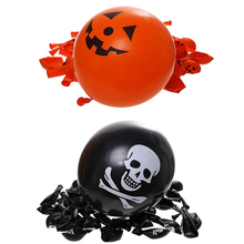 10pcs Halloween Latex Balloons Pumpkin Smiley Face Party Bat Skull Print pirate ship ballons Halloween party decoration Supplies(China)