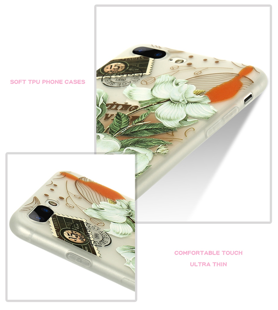 For iPhone 6 6S iPhone 7 Plus Soft TPU Silicon Phone Cover (5)