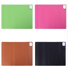 60*36cm PU Leather waterproof Office Desk Heating Pad Business Writing Desk Pad Electric Warm Table Mat