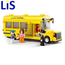 Lis Sluban Assembled Building Blocks Mini School Bus toy Children Educational toys Lepin(China)