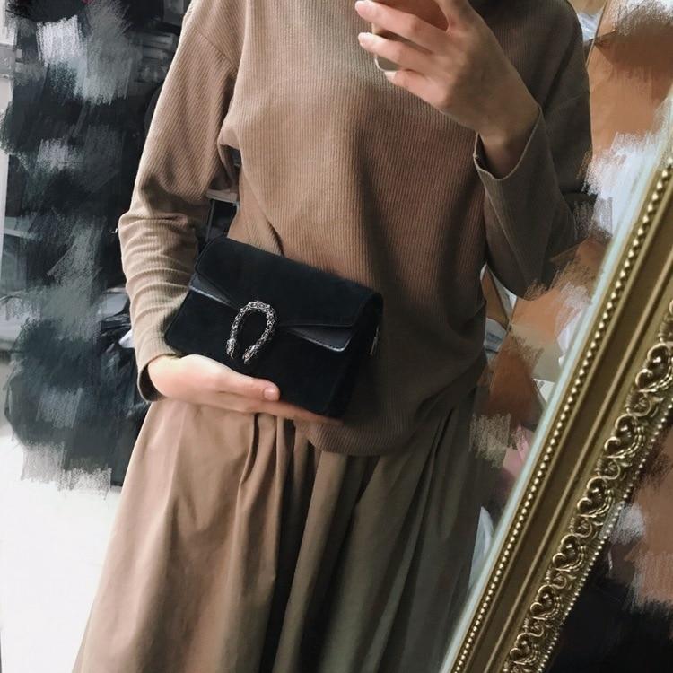 Dionysus leather bag black