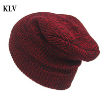 Fashion Unisex Winter Warm Crochet Ski Hat Braided  Beanies Solid Knit Hat Warm Cap Turban Ear Protect Gorros Masculino No1031