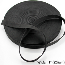 "25mm ( 1"" ) Nylon Webbing Strap Tape For Bag Strapping Belt Making Sewing DIY Craft For Home Garden Belt Strap Buckle Strapping"