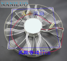 NANILUO New GP D22SL-12H 12V 0.6A 22cm chassis fan Quiet side of the chassis big fan 22cm diameter(China)