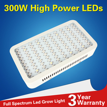 1pcs Full Spectrum Led Grow Panel Lamp 300W Mini Led Plant Grow Light Best for Hydroponic Systems Flowering Plant Bloom UV IR