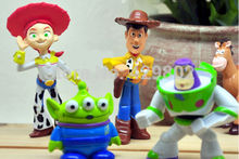 2017 Set of 5 pcs Toy Story party buzz Lightyear Woody Green Man Action Figures NEW