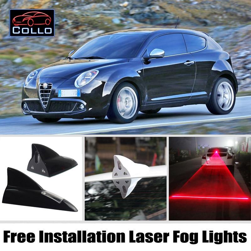 Newest Free Installation For Alfa Romeo MiTo / Furiosa / Solar Energy Shark Fin Laser Fog Light / Multiple Mode Warning Lamp<br><br>Aliexpress