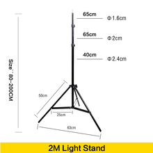 Photo 2M Light Stand Tripod With 1/4 Screw Head For Photo Studio Video Flash Umbrellas Reflector Lighting(China)