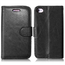 For Iphone 4 4s 4g Luxury Black Color 3 Credit Cards Leather Wallet Flip Fundas Phone Case For Apple Iphone 4 4s Back Cover Capa