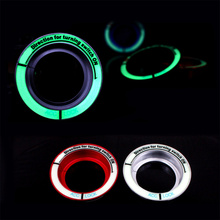 Car luminous ignition switch decoration stickers key hole protection circle For Ford Focus 2 3 MK2 MK3 MK4 ST RS kuga 2005-2017(China)