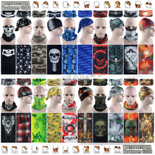Latest Hypaethral Sports Scarves Sunscreen Bicycle Headband Skull Face Shield Bandanas Multi Purpose Outdoor Seamless Headgear(China)