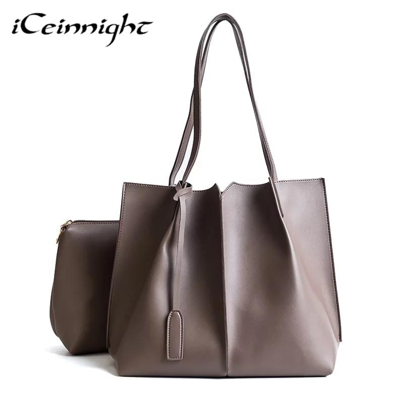 iCeinnight 2017 Fashion Women Shoulder Bag Soft PU Leather Brand Work Bag Designer Handbags High Quality Women Tote Bag Ladies<br>