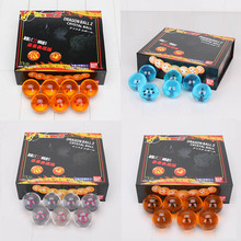 4cm Dragon Ball Z Crystal Balls Action Figure Anime orange pink blue black stars Dragon Ball Kids toys gifts Toys(China)