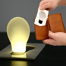 New 5 x Fashion Portable Pocket LED Card Light Bulb Lamp Purse Wallet Size