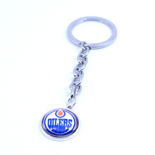 Ice Hockey Jewelry Keychain NHL Edmonton Oilers Charms /18mm Snap Button Charms Car Keyring for Women Men Gift 2017