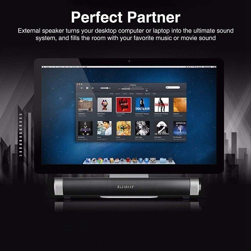 VTIN Wireless Bluetooth Speaker 4.2 SoundBar Remote Control TF Card TV Cellphone Tablet Surround Sound System TV Speaker Golden (5)