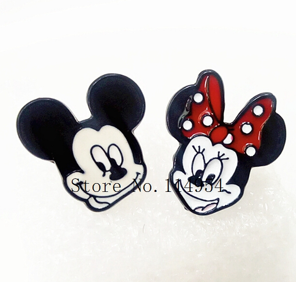 20 pairs  Alloy Enamel Lovely Cartoon mickey minnie  Earrings  Jewelry  Stud Earring  EE-13