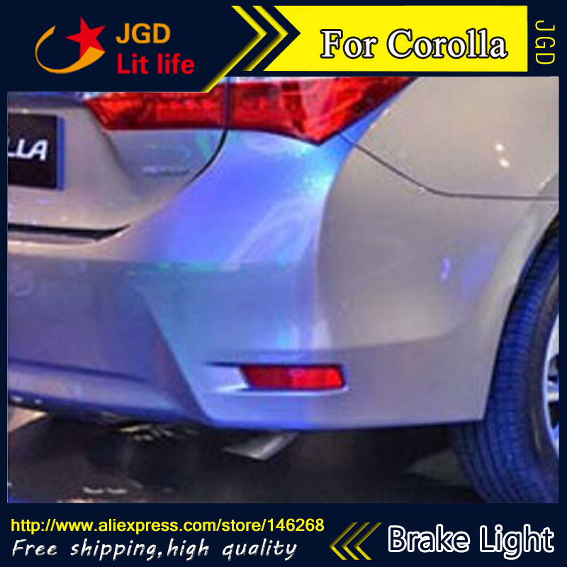 Free shipping Tail light parking warning rear bumper reflector for Toyota Corolla 2014 Car styling<br>