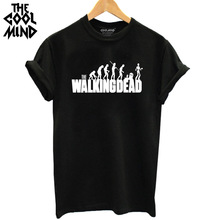 Buy THE COOLMIND 2017 Fashion Brand T Shirt Women Walking Dead Printed T-shirt Women Tops Tee Shirt Femme New Arrivals Hot Sale for $4.99 in AliExpress store