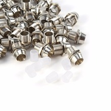 50 pcs Silver Color 5mm LED Holders Panel Display Thread Mount Size 8mm(China)