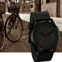 Fashion Casual Mens Watches Top Brand Luxury Leather Business Quartz-Watch Simple Sports Men Wristwatch Relogio Masculino Clock