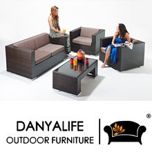 DYSF-D4417 Danyalife Synthesis Rattan Deluxe Garden Sofa and Coffee Table Set(China)