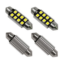 4PCS 2835 SMD 31mm 36mm 39mm 42mm Car LED Bulbs Interior Dome Festoon Lights Auto Roof Lamp White 12V Free Shipping