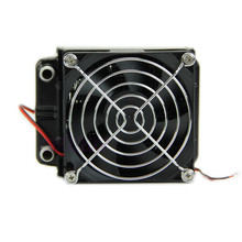 Pure Aluminum Fins Heatsink 80mm Aluminum Water Cooling Cooler Computer Fans Radiator For CPU LED