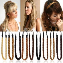 Hot New Synthetic Hair Band Plaited Plait Elastic Bohemia Braids Headband Hairband