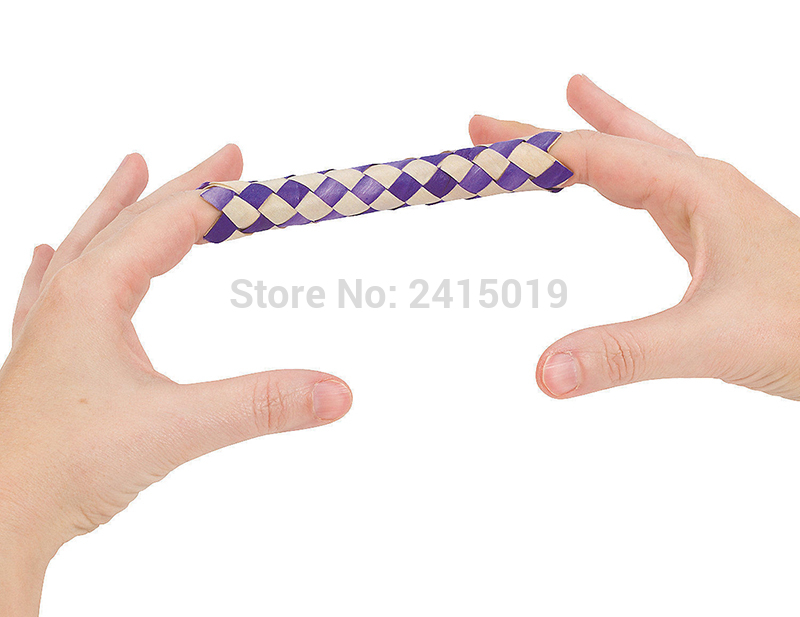 6xChinese finger trap magic trick joke gift birthday party bag fillers-3