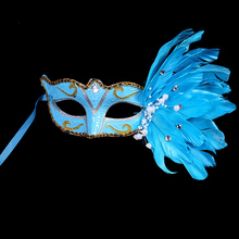 2016 New Masquerade Feather Sexy Venetian Mask Women For Face Multi Color Princess Mask Sexy Half Hallowmas Feather Masks