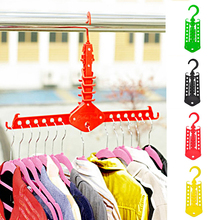 New 1pc Delicate Clothes Hanger Folding Rack Magical High Quality Convenient Save Space Vintage Accessories(China)