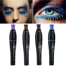 Colored Mascara Waterproof Lengthening Thick Curly Mascara Makeup Cosplay Stage Theater Colorful No Blooming Pro Makeup For Eye(China)